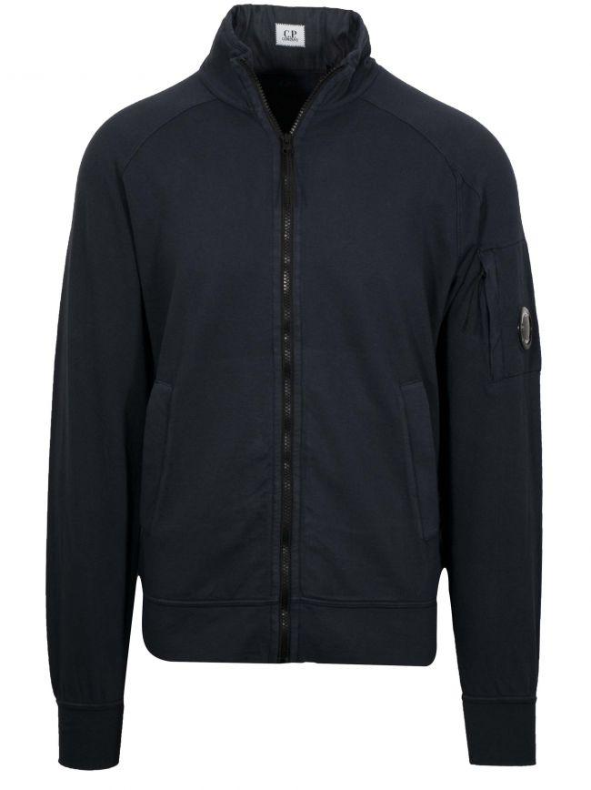 Navy Bomber Zip Sweatshirt