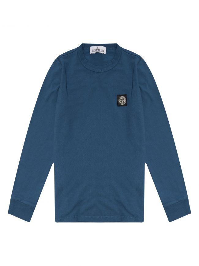 Blue Patch Logo Pique Long Sleeve T-Shirt