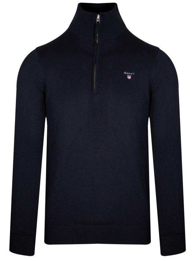 Navy Half Zip Sweatshirt