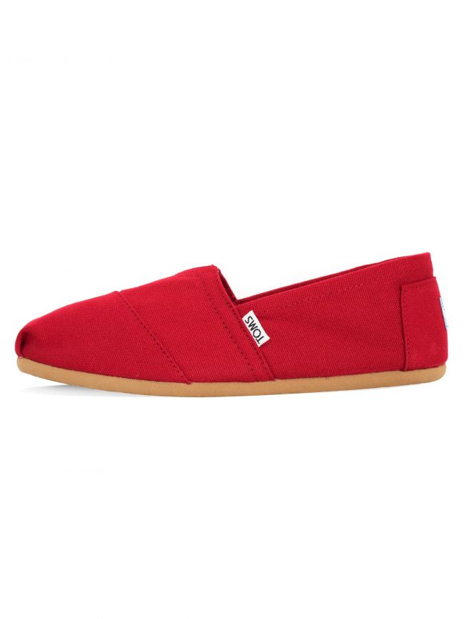 Classic Red Canvas Slip Ons