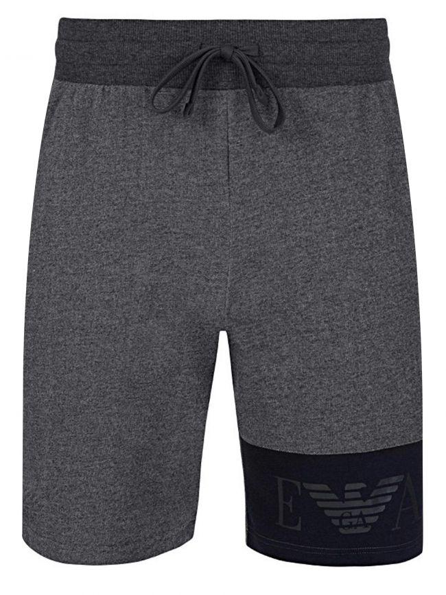 Grey & Navy Eagle Jersey Shorts