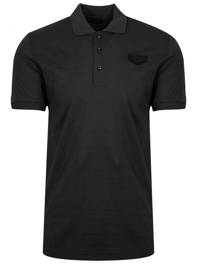 Black Patch Logo Polo Shirt