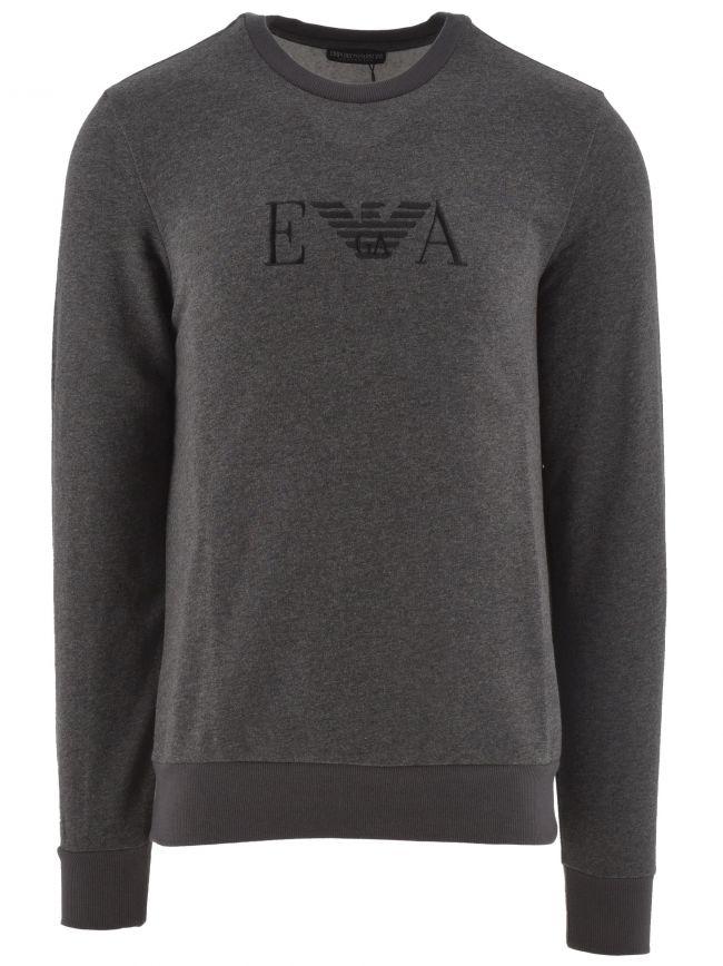 Grey Crew Neck Long Sleeve Sweatshirt