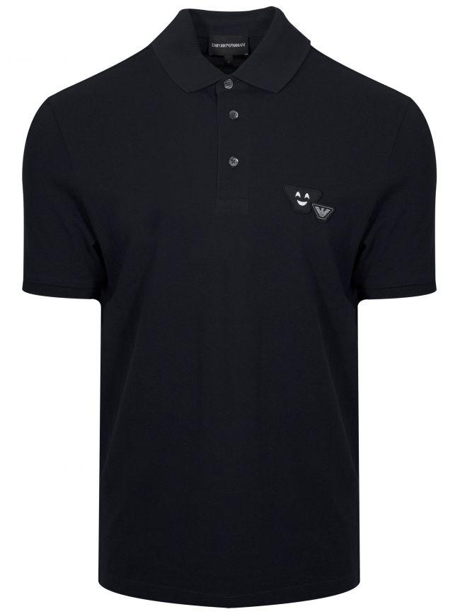 Navy Smile Logo Polo Shirt