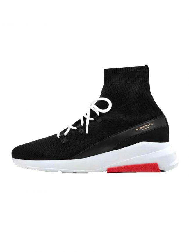 Black Redondo Black Knit Sock Sneaker