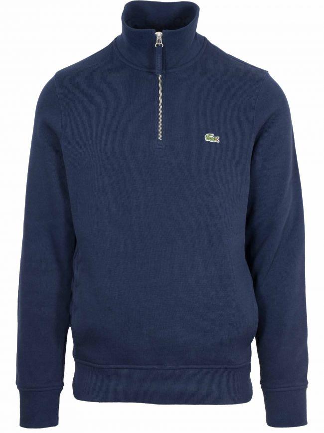 Navy Logo Half Zip Sweatshirt