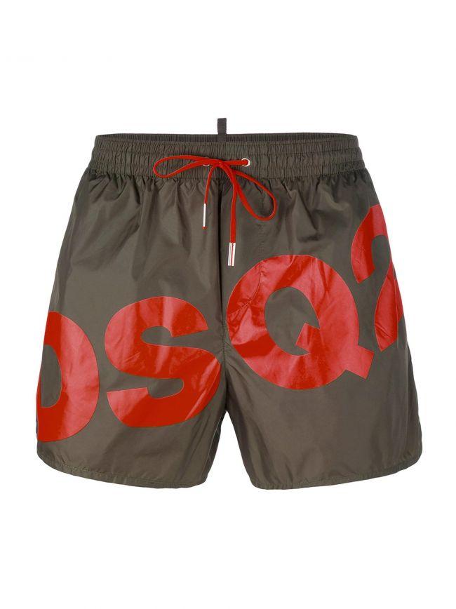 DSQ2 Khaki Short Swim Shorts
