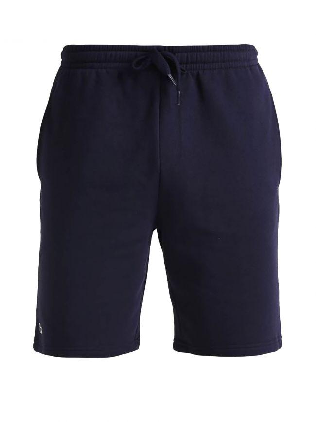 Navy Cotton Jersey Shorts