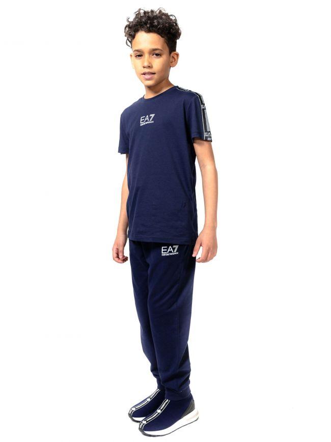 EA7 Kids Navy Crew Neck T-Shirt