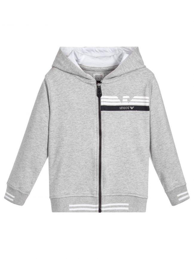 Grey Hooded Zip Top