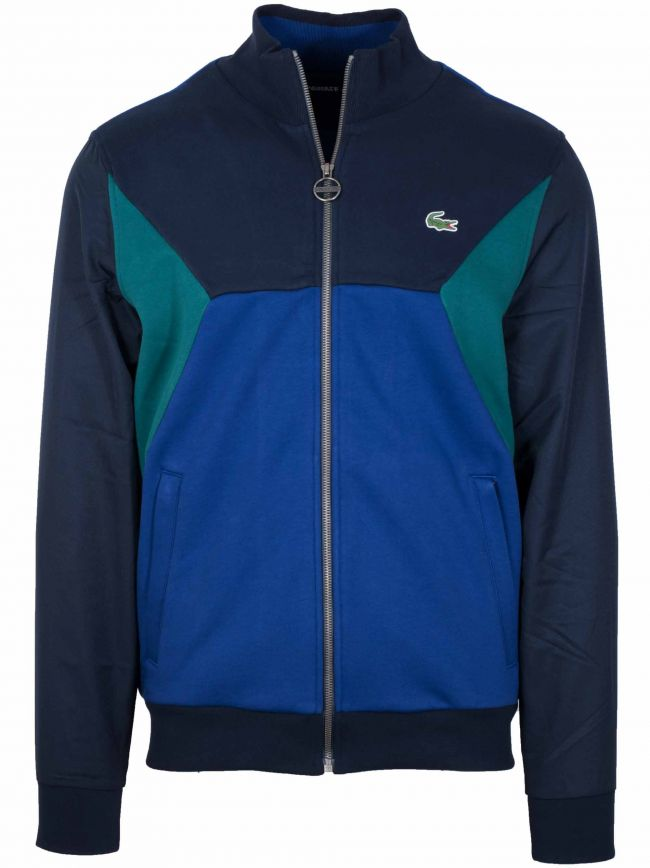 Navy & Green Zip Top