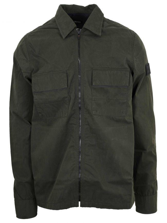 Khaki Lovel 2 Zipped Overshirt