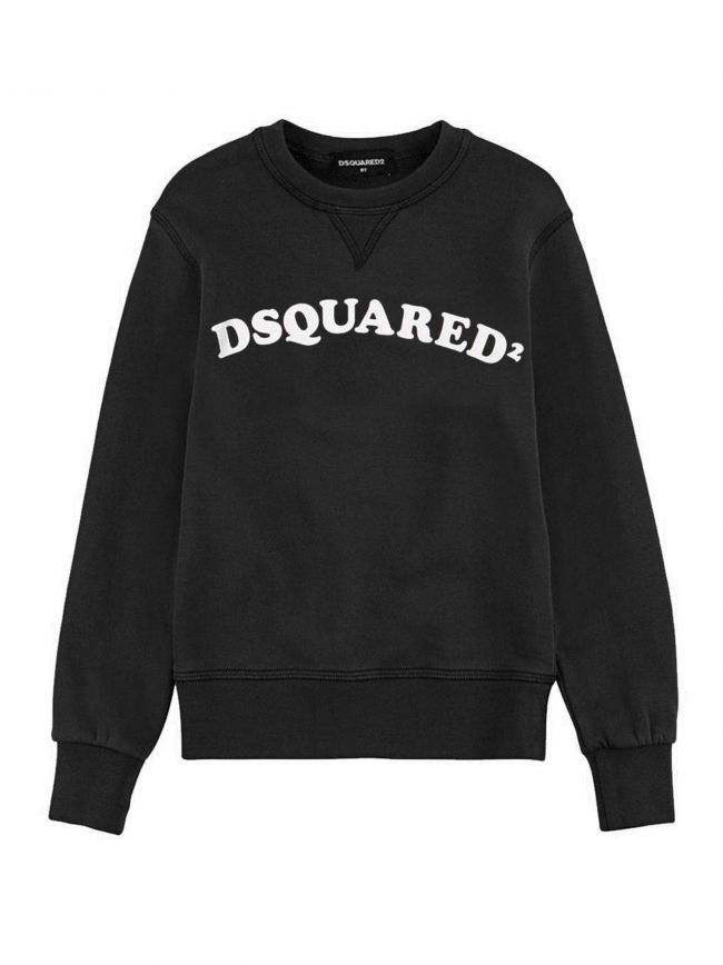 Black Curved Logo Sweatshirt