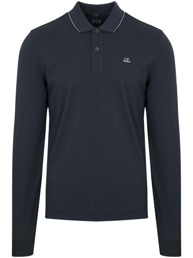 Navy Blue Slim Fit Polo