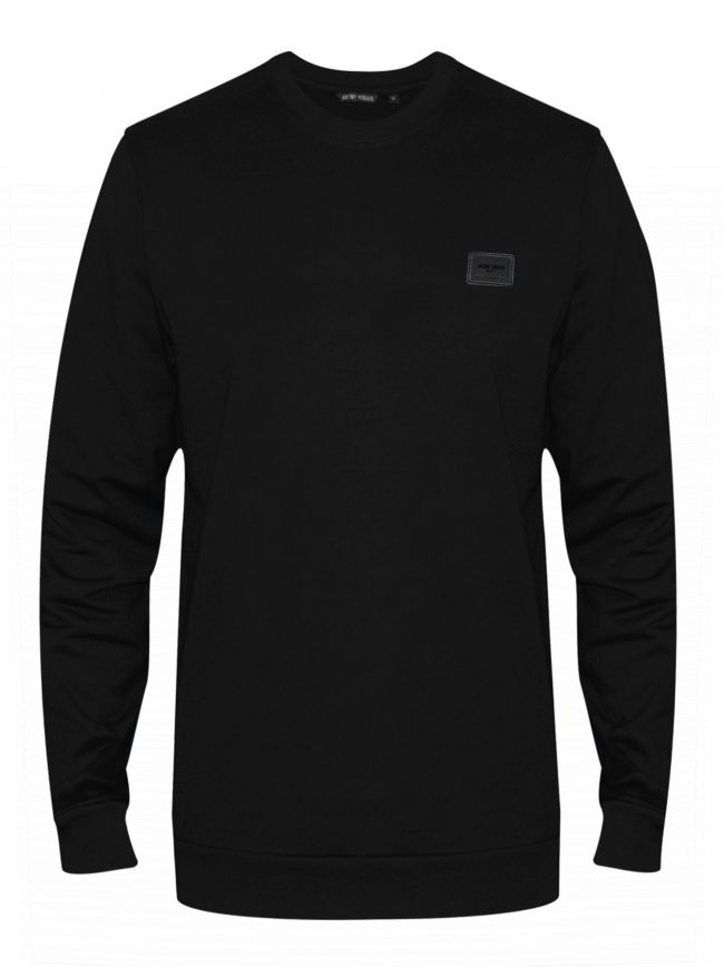 Black Plaque Logo Crew Neck Sweatshirt
