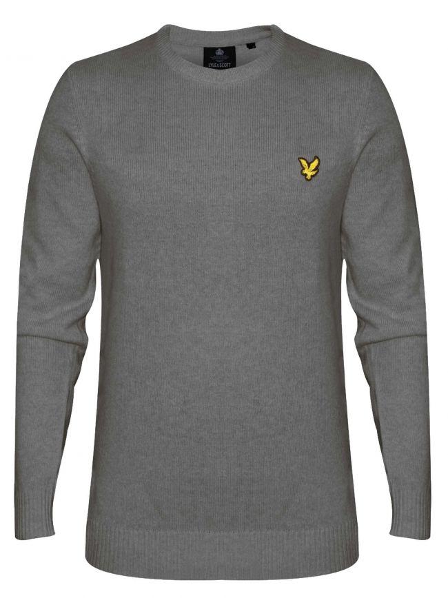 Grey Marl Lambswool Sweatshirt