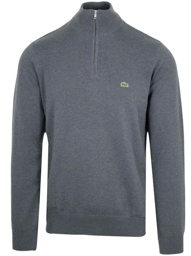 Classic Grey Half Zip Sweatshirt