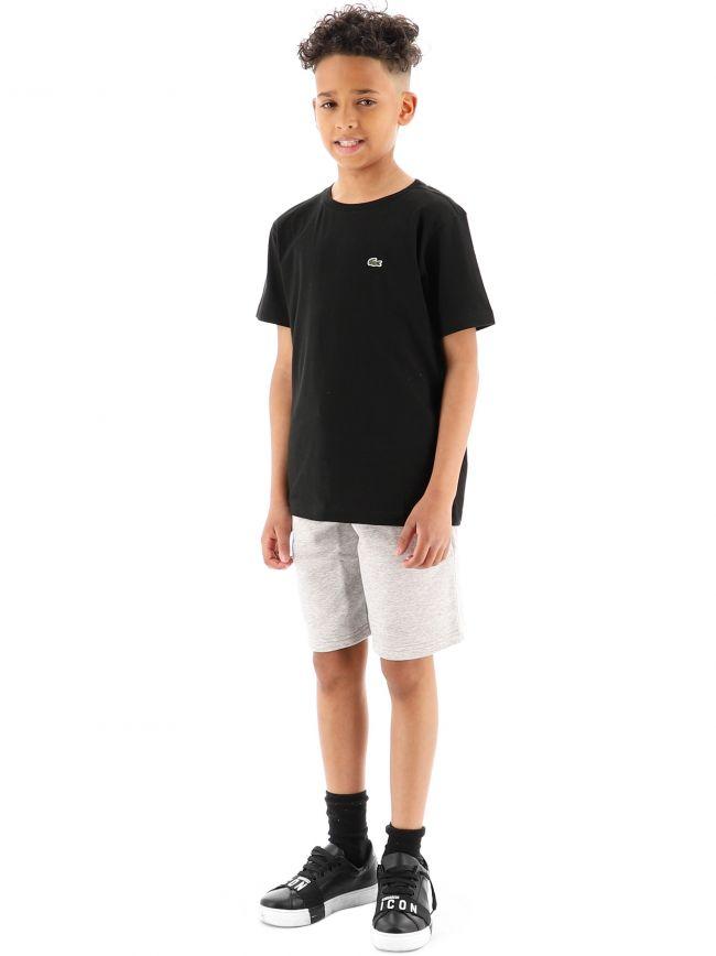 Lacoste Kids Black Crew Neck T-Shirt