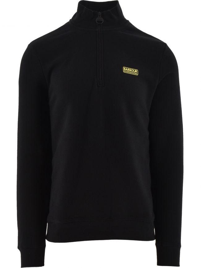 Black Essential Half Zip Sweatshirt