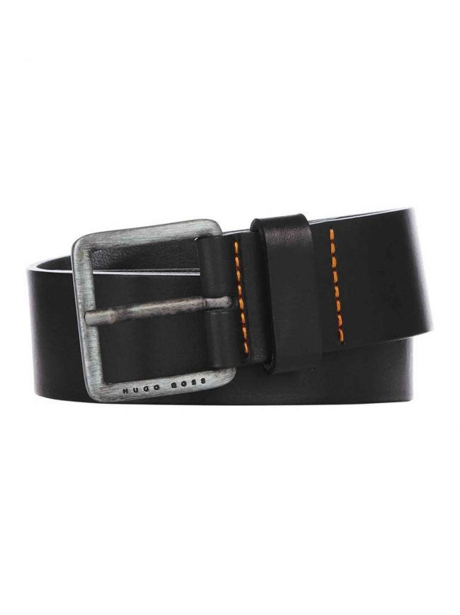 Black Pin Buckle Leather Jeeko Belt