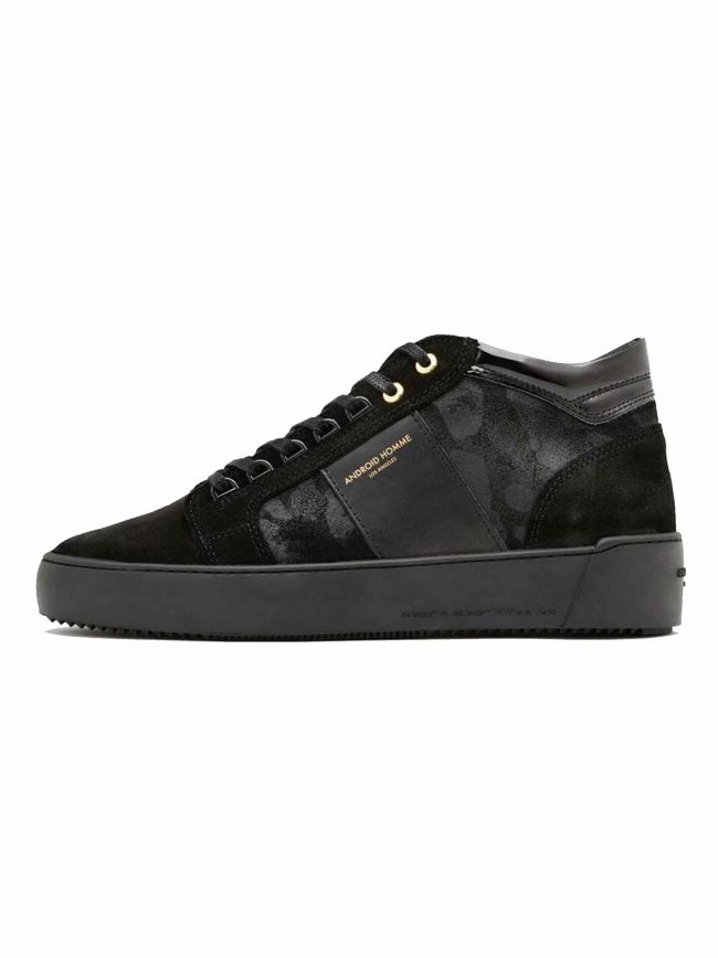 Black Camouflage Suede Propulsion Mid Sneaker