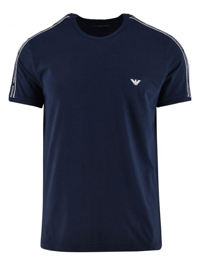 Navy Logo Short-Sleeved T-Shirt