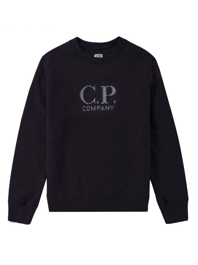Navy Reflective Logo Sweatshirt