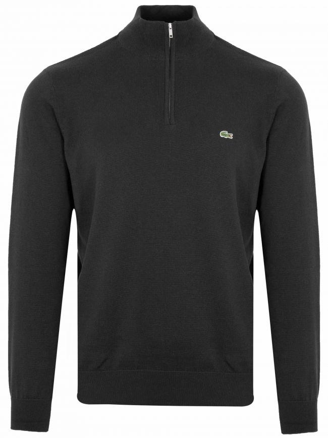 Classic Black Half Zip Sweatshirt