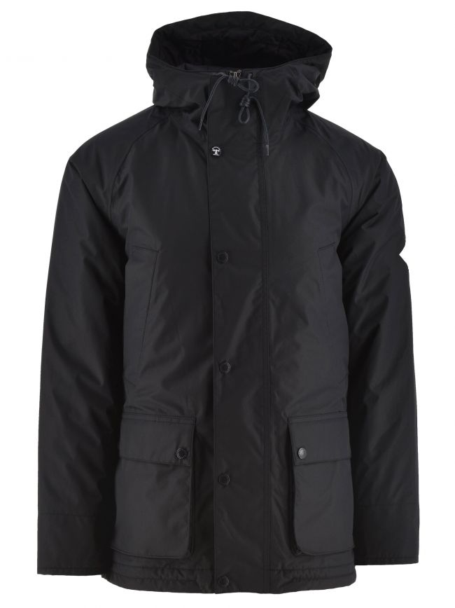 Navy Hooded Bedale Jacket