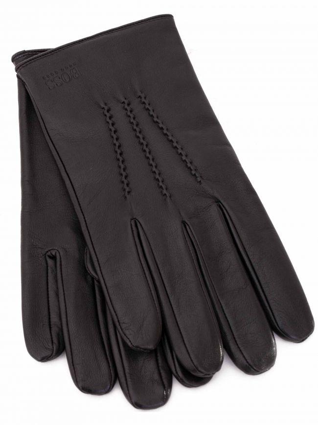 Black Grifin Leather Gloves