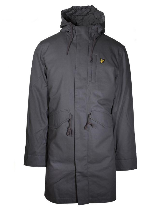 Grey Wax Parka Jacket
