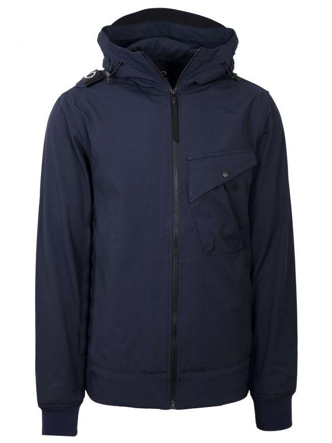 Navy Softshell Hooded Jacket