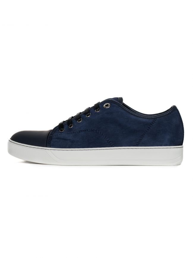 Navy Sliced Nubuck Toe Cap Sneakers