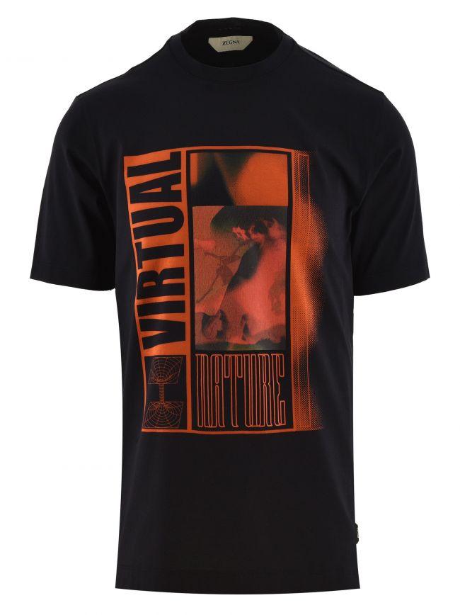 Dark Blue Short Sleeve Logo T Shirt