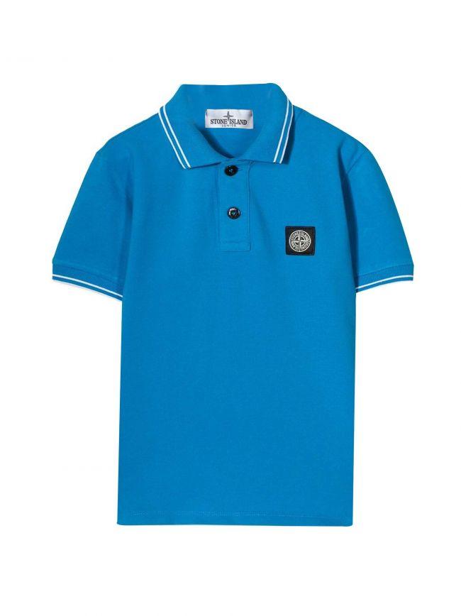Blue Piqué Polo Shirt