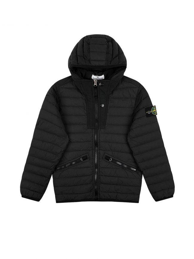 Black Nylon Padded Down Jacket