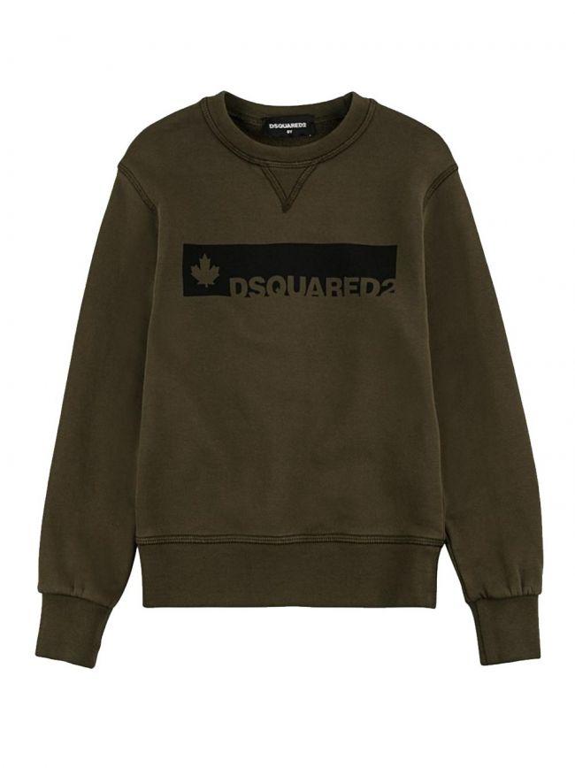 Khaki & Black Logo Sweatshirt