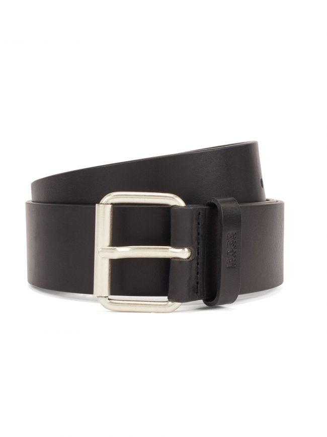 Black Pin Buckle Leather Sergen Belt