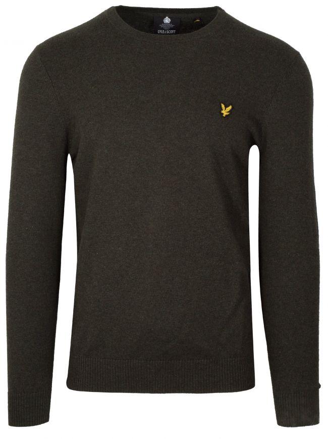 Dark Green Marl Merino Sweatshirt