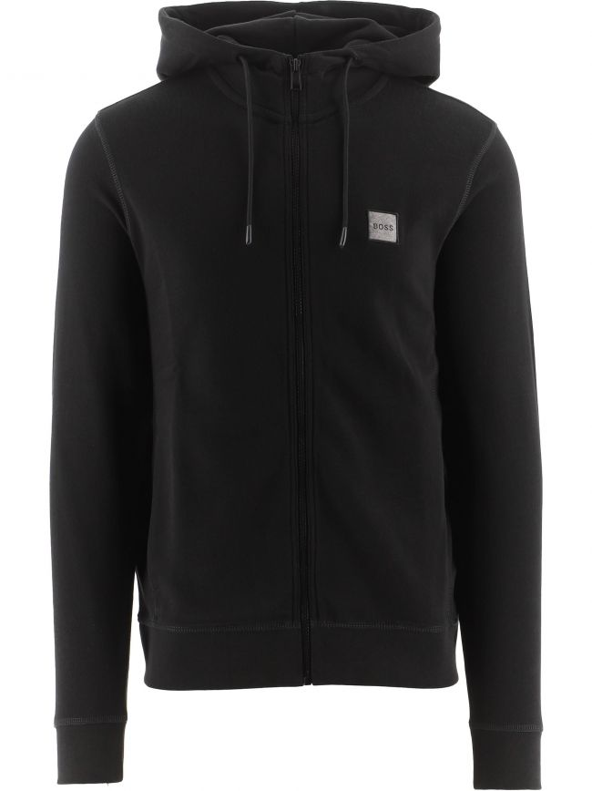 Black Relaxed Fit Logo Patch Zetalk 1 Hoodie