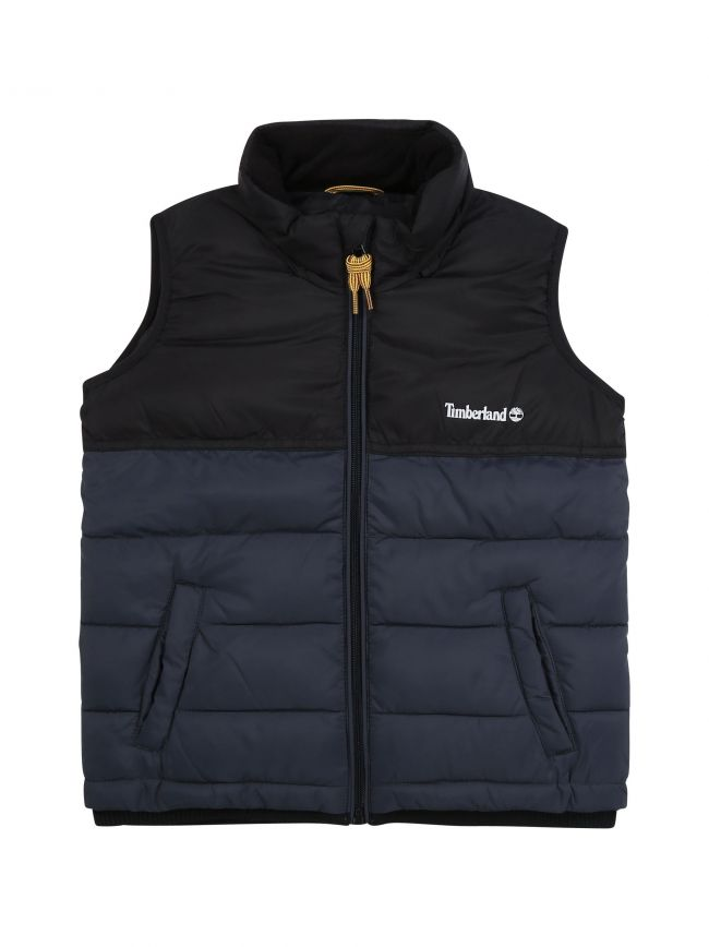 Charcoal Grey Water repellent Hooded Puffer Gilet