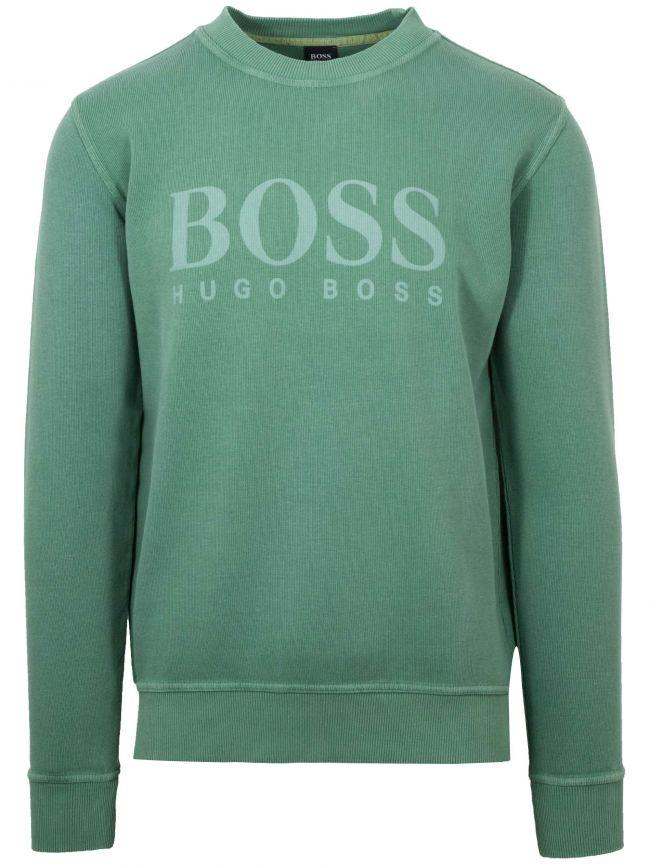 Green Weave Logo Sweatshirt