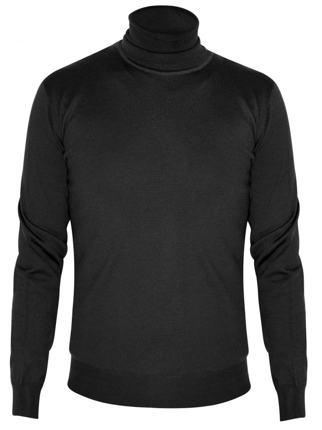 Black Knitted Rollneck Sweater