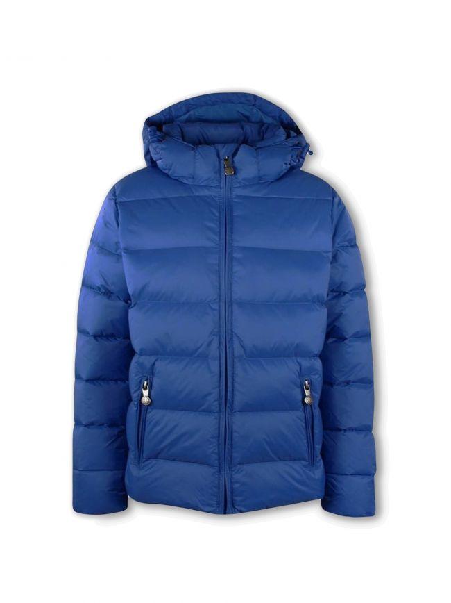 Matte Denim Blue Spoutnic Bubble Jacket