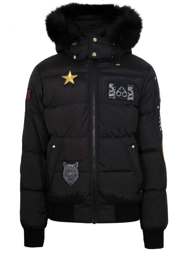 Black Colinton Bomber Jacket