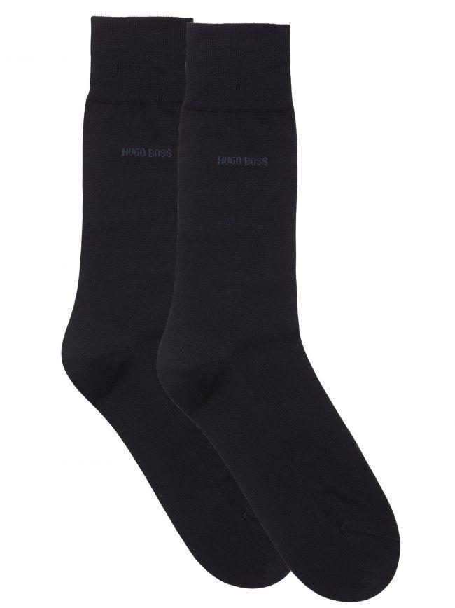 Navy 2 Pack Finest Soft Cotton Socks