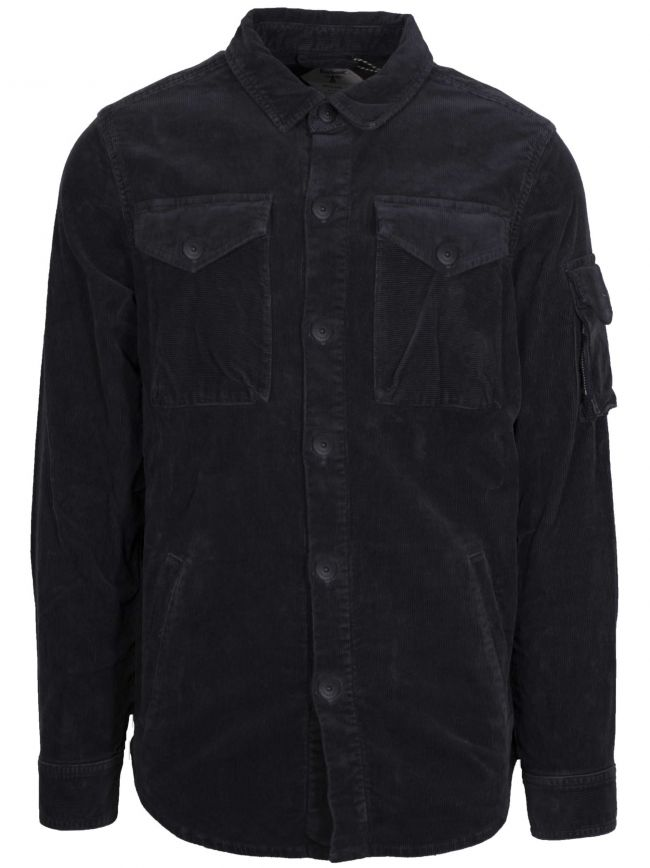 Askern Navy Cord Over Shirt