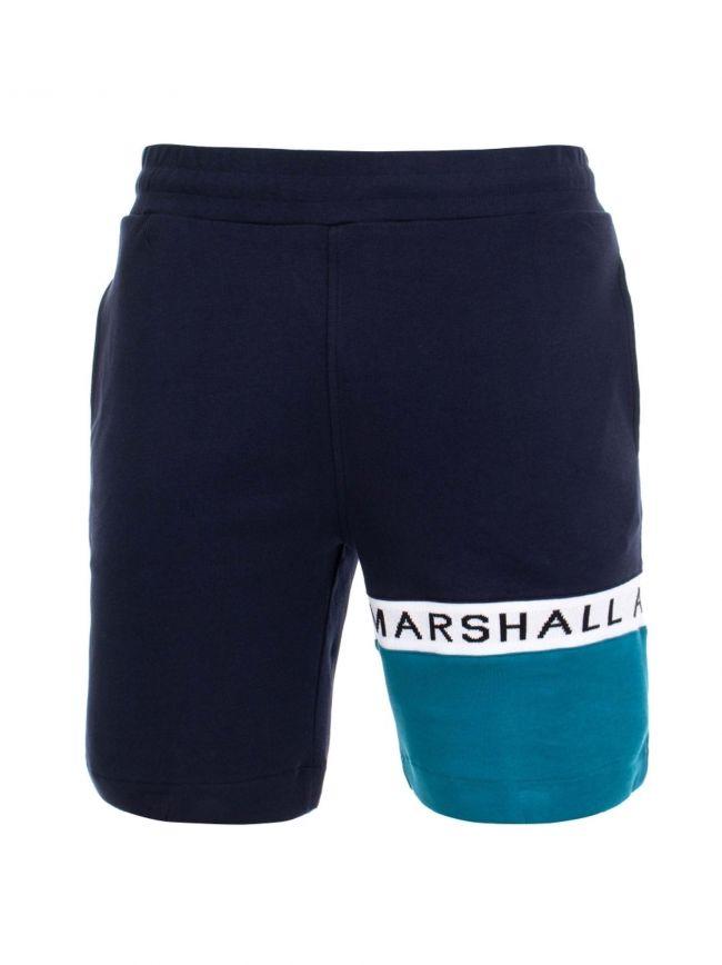 Navy & Teal Logo Jersey Short