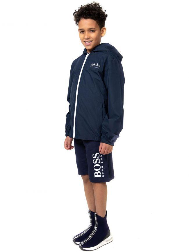 BOSS Kids Navy Windbreaker Jacket