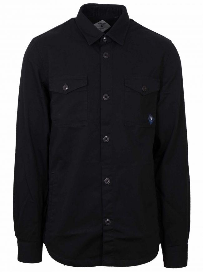 Black Twill Over Shirt